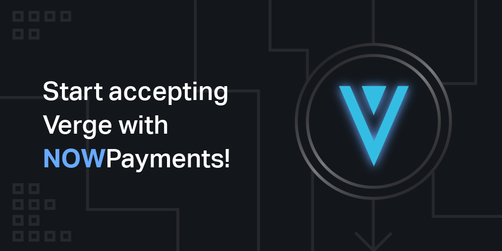 Accept payments in Verge coin