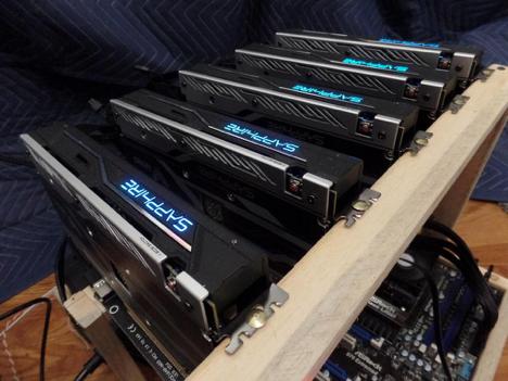 GPU mining farm for Bitcoins