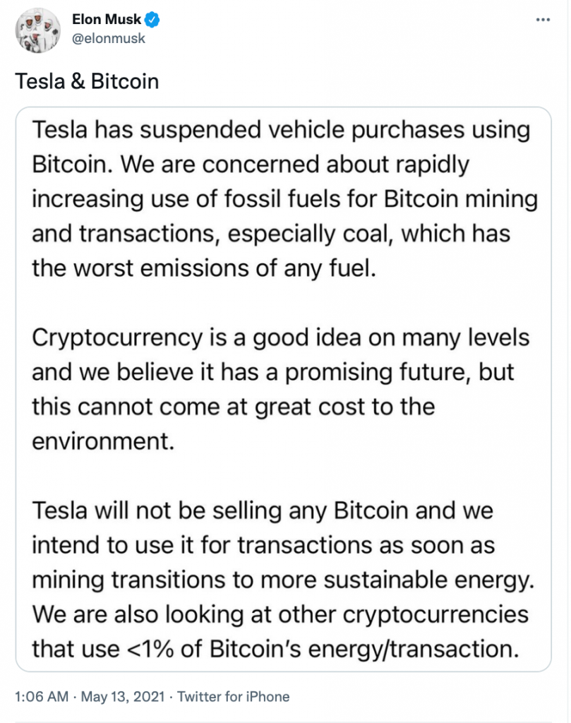 Climate concerns about Bitcoin